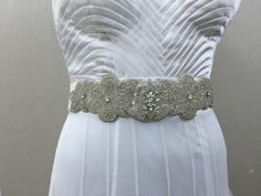 A personal favourite from my Etsy shop https://www.etsy.com/in-en/listing/386949646/rhinestone-bridal-belt