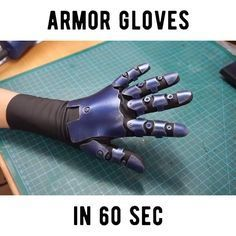"16.2k Likes, 169 Comments - Svetlana Quindt (@kamuicosplay) on Instagram: ""How to make stretchy armor gloves! Enjoy! Foam by @cosplayshop.be . Thanks @bakkacosplay for the…"""