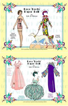 "Deco ""Boots"" Paper Dolls Vintage Paper Dolls Celebrity Paper Dolls"