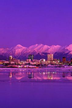 Anchorage Skyline Evening Alaska