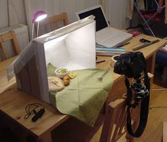 Simply Cooked: Light Box for Staging Food Photography: Step-by-Step but good for minis too.