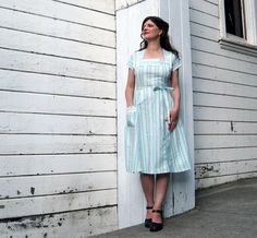 Handmade dress by Brightest Star  Nautical Sea by brighteststar, $110.00