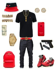 """""""((School Flow)) ~Dre Savage"""" by chiefkeefsosa ❤ liked on Polyvore featuring Polo Ralph Lauren, Mister, Nixon, Moschino and Jamie Wolf"""
