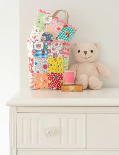 """Tiny toy baskets @ pretty by hand - 2.5"""" charm squares"""