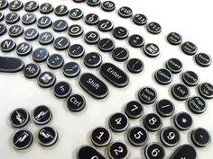 Steampunk Keyboard Set -  Wood Typewriter Keys replicating Modern Keyboard. $19.95, via Etsy.