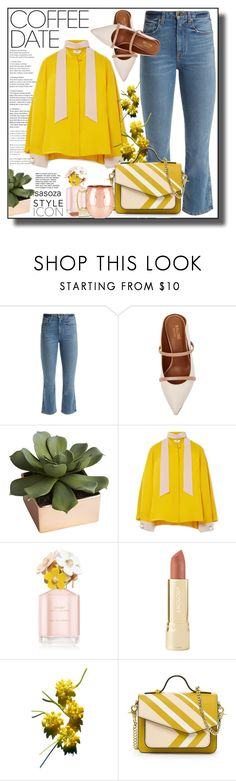 """OOTD by sasoza"" by sasooza ❤ liked on Polyvore featuring Khaite, Malone Souliers, CB2, Fendi, Marc Jacobs and Axiology"