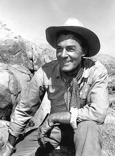 THE TALL T - Randolph Scott on location near Lone Pine, California - Directed by Budd Boetticher - Columbia Pictures.