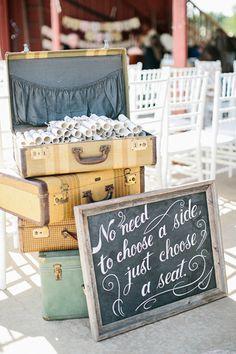 choose a seat, not a side | Megan Thiele #wedding