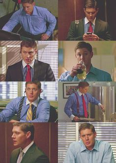 "Recently I have been so in love with Dean Smith. Like, I know he's a ""corporate douche-bag"". But, whatever. His portfolio is in the toilet and he is just having a rough year, OK? Besides, he stilllll needs a secretary. :P #Supernatural #DeanWinchester"