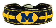 Michigan Wolverines Bracelet - Team Color Football