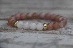 Elegant Bracelet, Beaded Bracelet, Sunstone and Moonstone bracelet, Yoga Bracelet, Healing Bracelet, by KarolinaGJewelry on Etsy https://www.etsy.com/listing/596226586/elegant-bracelet-beaded-bracelet