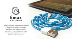 Limax consente di mantenere ordinati e integri i cavi di serie dei vostri dispositivi, con la possibilità di rimuovere e sostituire il cavo dalla spirale in ogni momento.
