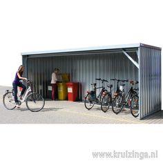 Container overkapping open voorzijde   Kruizinga.nl