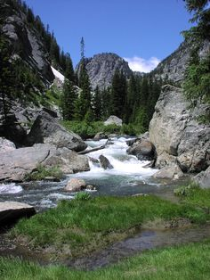 Death Canyon and Creek, Grand Teton National Park, Wyoming