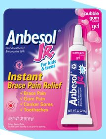 Anbesol for kids, teens & adults with braces! Awesome!