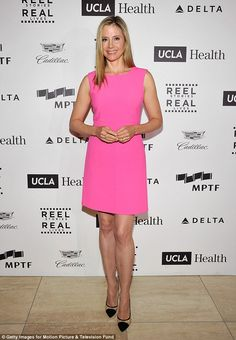 46 yo Mira Sorvino shone in a hot pink dress when she attended the fourth annual R...