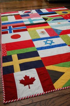 The Little Fabric Blog: Olympic Flag Quilt + Tutorial!