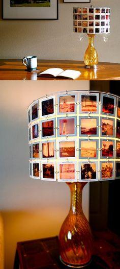 Lámpara con diapositivas / http://inspirahogar.com/
