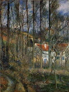 The Athenaeum - PISSARRO, Camille French Pointillist-Impressionist (ca.1830-1903)_The Cote des Boeurs at l'Hermitage, near Pontoise- 1877