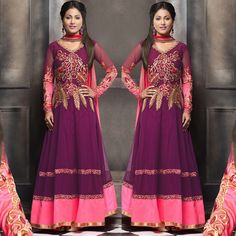 Stunning Attire to help you take on the world with courage and sass. Loved it. Indian Anarkali Dresses, Designer Anarkali Dresses, Anarkali Gown, Anarkali Suits, Asian Suits, Suit Stores, Pakistani Designers, Wedding Wear, Couture Dresses
