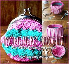 Monedero crochet con boquilla metálica