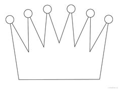 Crown Pattern Use The Printable Outline For Crafts Creating