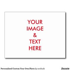 Personalized Custom Your Own Photo Postcard