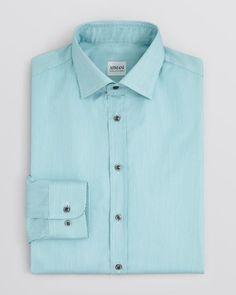Armani Collezioni Fine Stripe Dress Shirt - Regular Fit