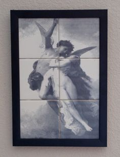 """1064 - Ascending to Heaven, Engraved tile. Professionally framed and ready to hang mural portrait which measures 10"""" x 14"""" $145.00"""