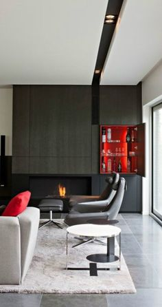 Mannen & interieur   Man cave in zwart en rood • Stijlvol Styling   Wooninspiratie & lifestyle blog