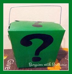 DIY Riddler Party Invitations! Perfect for a Batman Party!