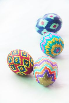 Add some modernist charm to your 2015 Easter with these pretty ikat eggs. Blogger The Pink Doormat shows you how to use Sharpies to create these intricate and colorful designs that are sure to stand out. More DIY on HouseBeautiful.com: 10 Easy DIYs That Will Make Spring Come Quicker   - HouseBeautiful.com
