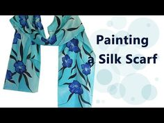 How I Paint a Silk Scarf: The Creative Process Part I - YouTube