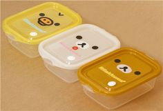 Rilakkuma Bento Box 3 pcs Lunch Box bear chick face 1