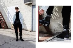 pose / textured sock contrast / model // HAVEN Arc'teryx lookbook
