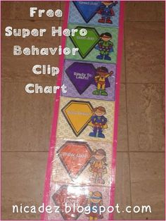 Free Superhero theme - Behavior Clip Chart System - for your classroom #school