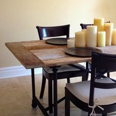 Restoration Hardware Table Made From A Reclaimed Doorwith Metal Fascinating Restoration Hardware Dining Room Sets Decorating Design