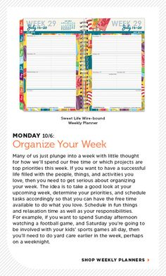Organized October - Tips to organize your week from Franklin Planner.com