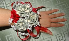 Hey, I found this really awesome Etsy listing at http://www.etsy.com/listing/153808414/origami-money-corsage-for-wedding
