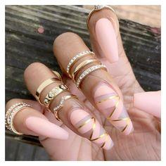 Nail art nail design pink