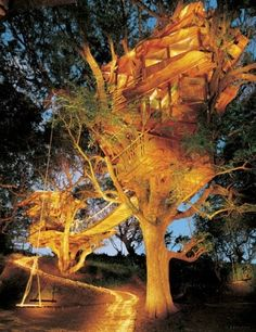 These playful tree house structures have become something of an obsession with adventurous architect