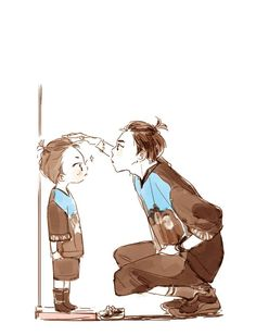Minseok and Xiumin kid