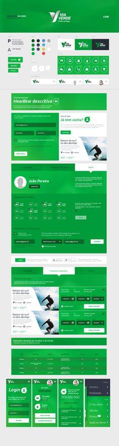 Ecosistema Via Verde  Mood board and UI Kit. Made by Foan82