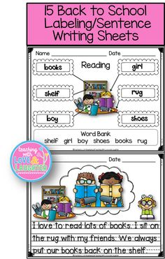 Labeling is such an important beginning reading/writing skill. These labeling sheets are perfect for our youngest learners. They contain fun words for the children to sound out and write. Even if they can only identify the first or last letter in the word, they can still try to figure out where the words go on each sheet, based on just those one or two sounds, because of the picture clues. Labeling is a great skill to help our students gain phonemic awareness.