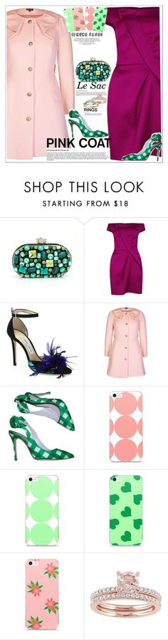 """Pretty Pink Coat"" by atelier-briella ❤ liked on Polyvore featuring Roland Mouret, Jimmy Choo, City Chic, Miu Miu, Allurez and chic"