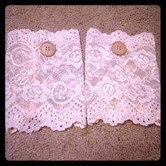 NWOT Cream & Lace Boot Covers Never been worn and in perfect condition. Button and Lace detail. Smoke free home. No Trades/PayPal. Feel free to make an offer!! Accessories Hosiery & Socks