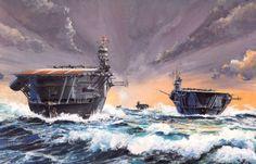Japanese Carriers, Akagi and Kaga