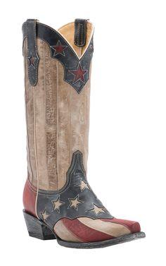 Old Gringo Yippee Ki Yay Women's American Flag Snip Toe Western Boots | Cavender's