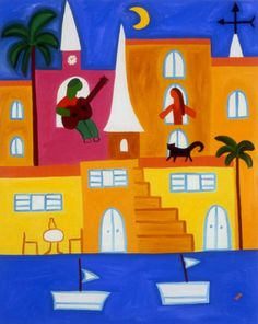 Serenata en Calvi, 2002. Oil on linen, 76 x 60 cm. Private collection. #painting #oilpainting #finearts #contemporaryart #cristinarodriguez