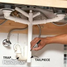 Plumbing hack IKEA bathroom sink drain connections Saves